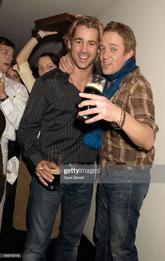 Colin Farrell With Fellow Actor Tom O'sullivan, Intermission Movie Premiere And After Party At The Electric Cinema, Portobello Road, London