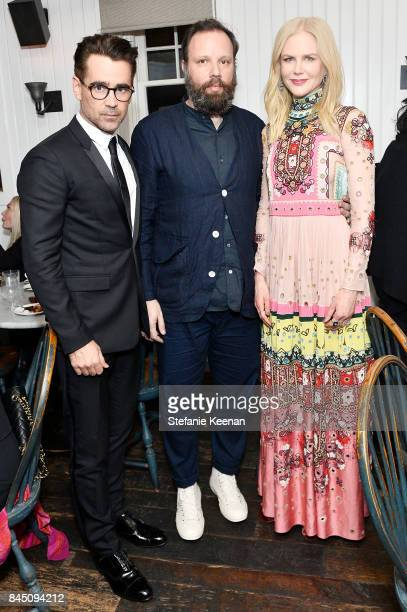 Colin Farrell Yorgos Lanthimos and Nicole Kidman attend the 'The Killing of a Sacred Deer' premiere party hosted By Grey Goose Vodka and Soho House...