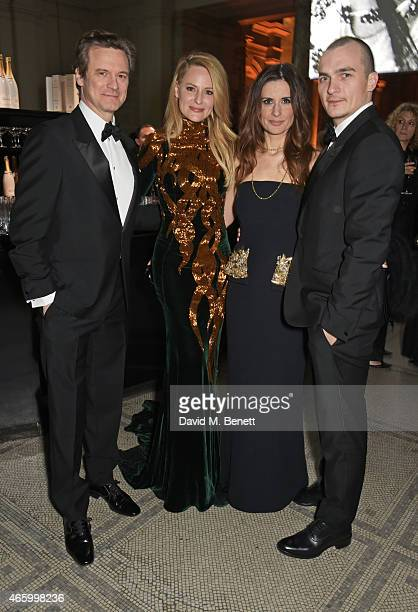 Colin Firth Aimee Mullins Livia Firth and Rupert Friend attend the Alexander McQueen Savage Beauty Fashion Gala at the VA presented by American...