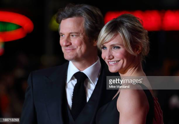 Colin Firth and Cameron Diaz attend the World Film Premiere of Gambit at Empire Leicester Square on November 7, 2012 in London, England.