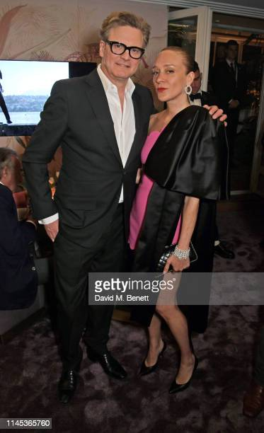 Colin Firth and Chloe Sevigny attend the Chopard Gentleman's Evening during the 72nd Annual Cannes Film Festival at the Chopard Rooftop at The Hotel...