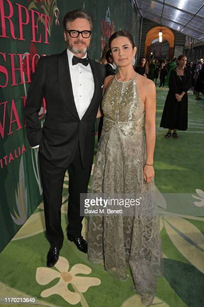 Colin Firth and EcoAge Creative Director Livia Firth attend The Green Carpet Fashion Awards Italia 2019 hosted by CNMI EcoAge at Teatro Alla Scala on...