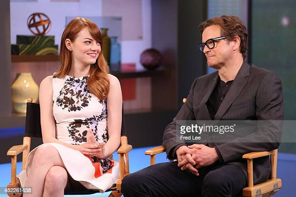 AMERICA Colin Firth and Emma Stone are guests on 'Good Morning America' 7/16/14 airing on the ABC Television Network EMMA