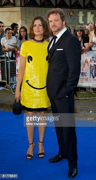Colin Firth and guest arrive at the World Premiere of Mamma Mia at the Odeon Leicester Square on June 30 2008 in London England