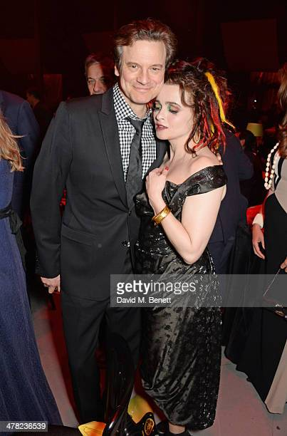 Colin Firth and Helena Bonham Carter attend 'A Night of Reggae' hosted by Helena Bonham Carter for Save The Children UK at The Roundhouse on March 12...