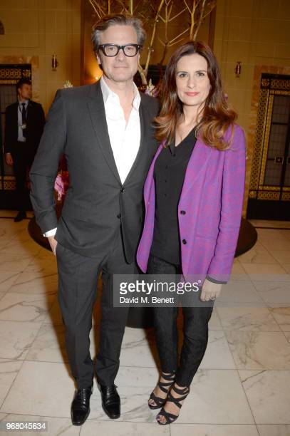 Colin Firth and Livia Firth attend an after party following the UK Premiere of 'The Happy Prince' hosted by Justine Picardie editor of Harper's...