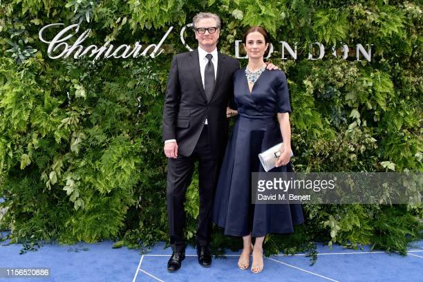 Colin Firth and Livia Firth attend the Chopard Bond Street Boutique reopening on June 17, 2019 in London, England.