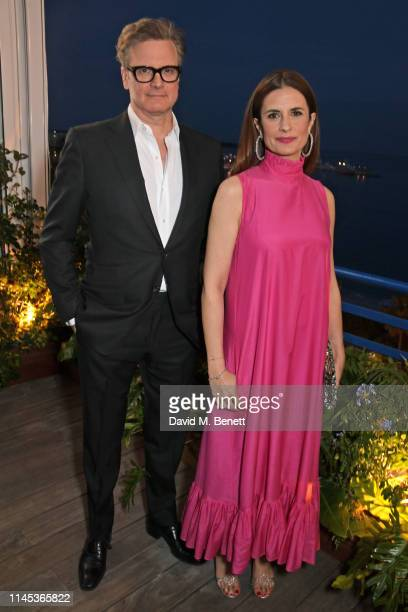 Colin Firth and Livia Firth attend the Chopard Gentleman's Evening during the 72nd Annual Cannes Film Festival at the Chopard Rooftop at The Hotel...