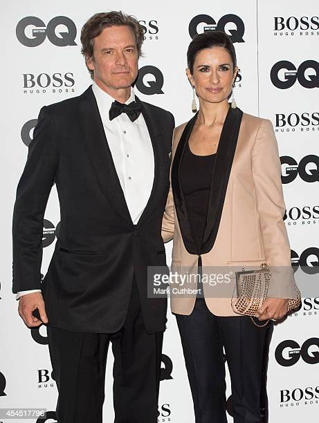 Colin Firth and Livia Firth attend the GQ Men of the Year awards at The Royal Opera House on September 2 2014 in London England