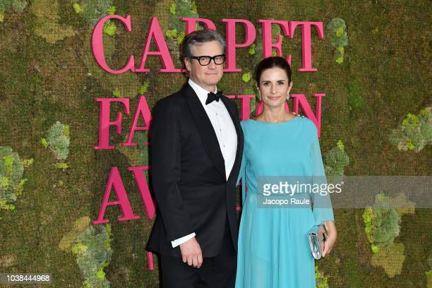 Colin Firth and Livia Firth attend the Green Carpet Fashion Awards at Teatro Alla Scala on September 23 2018 in Milan Italy