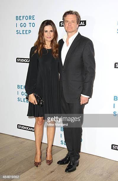 Colin Firth and Livia Firth attend the UK Gala screening of 'Before I Go To Sleep' at Ham Yard Hotel on September 4 2014 in London England