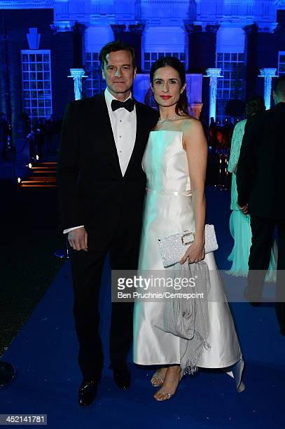 Colin Firth and Livia Firth attend the Winter White Gala In Aid Of Centrepoint on November 26 2013 in London England