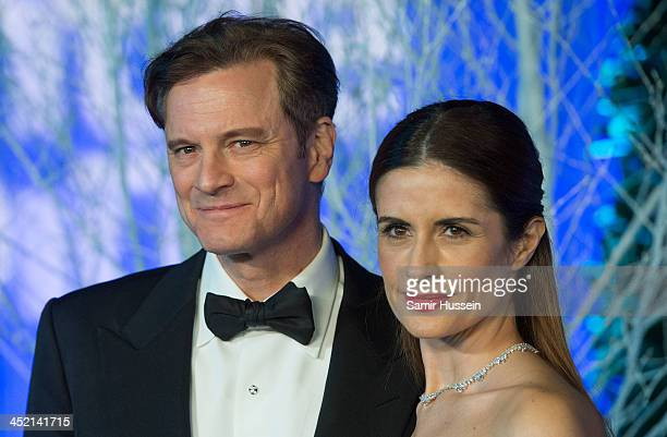 Colin Firth and Livia Firth attend The Winter Whites Gala In Aid Of Centrepoint at Kensington Palace on November 26 2013 in London England