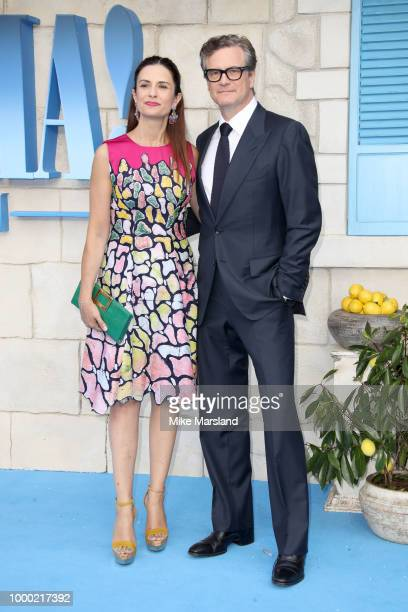 Colin Firth and Livia Firth attend the World Premiere of 'Mamma Mia Here We Go Again' at Eventim Apollo on July 16 2018 in London England