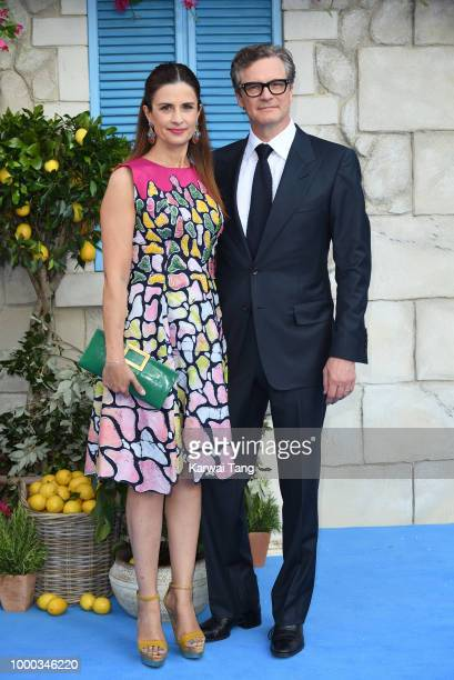 Colin Firth and Livia Firth attend the World Premiere of Mamma Mia Here We Go Again at Eventim Apollo on July 16 2018 in London England