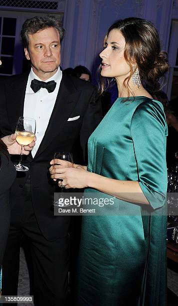 Colin Firth and Livia Giuggioli attend a Dinner at the British Fashion Awards 2011 at The Savoy Hotel on November 28 2011 in London England