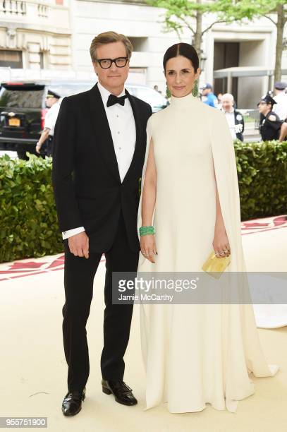 Colin Firth and Livia Giuggioli attend the Heavenly Bodies Fashion The Catholic Imagination Costume Institute Gala at The Metropolitan Museum of Art...