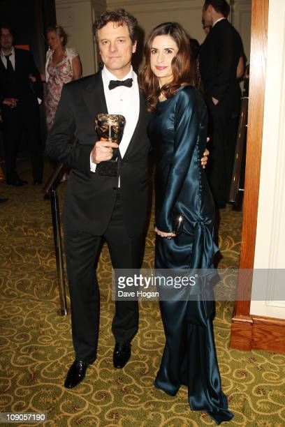 Colin Firth and Livia Giuggioli attend the Orange British Academy Film Awards 2011 dinner held at Grosvenor House on February 13 2011 in London...
