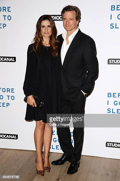 Colin Firth and Livia Giuggioli attend the UK gala screening for 'Before I Go To Sleep' at The Ham Yard Hotel Hotel on September 4 2014 in London...