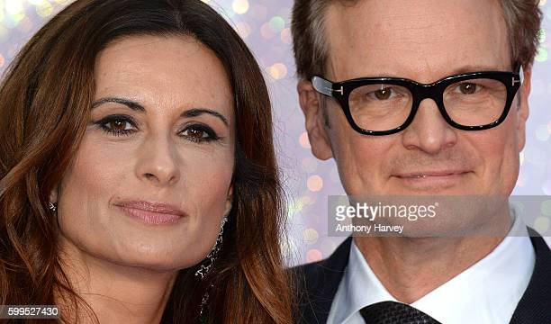 Colin Firth and Livia Giuggioli attend the World premiere of 'Bridget Jones's Baby' at Odeon Leicester Square on September 5 2016 in London England