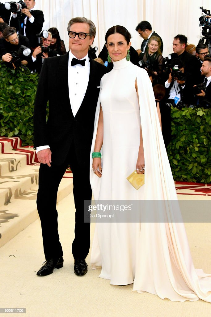 Colin Firth and Livia Giuggioli attends the Heavenly Bodies: Fashion & The Catholic Imagination Costume Institute Gala at The Metropolitan Museum of Art on May 7, 2018 in New York City.