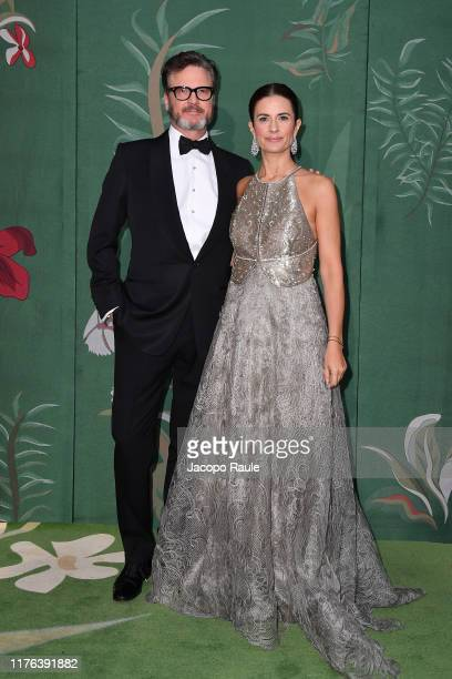 Colin Firth and Livia Giuggioli Firth attend the Green Carpet Fashion Awards during the Milan Fashion Week Spring/Summer 2020 on September 22 2019 in...