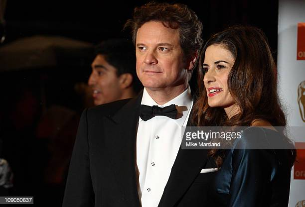 Colin Firth and Livia Guiggioli attend the 2011 Orange British Academy Film Awards' at The Royal Opera House on February 13 2011 in London England