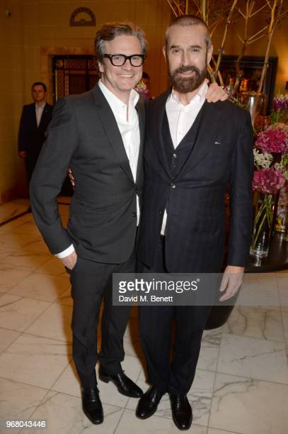 Colin Firth and Rupert Everett attend an after party following the UK Premiere of 'The Happy Prince' hosted by Justine Picardie editor of Harper's...