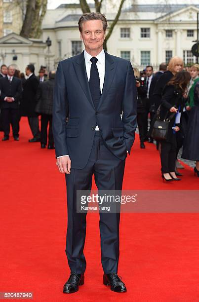 """Colin Firth arrives for the UK premiere of """"Eye In The Sky"""" at Curzon Mayfair on April 11, 2016 in London, United Kingdom."""