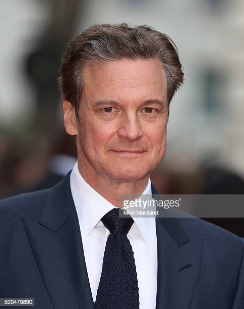 Colin Firth arrives for the UK premiere of 'Eye In The Sky' on April 11 2016 in London United Kingdom