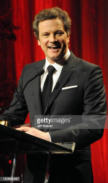 Colin Firth attends AARP The Magazine's 10th Annual Movies For Grownups Awards at the Beverly Wilshire Four Seasons Hotel on February 7, 2011 in...