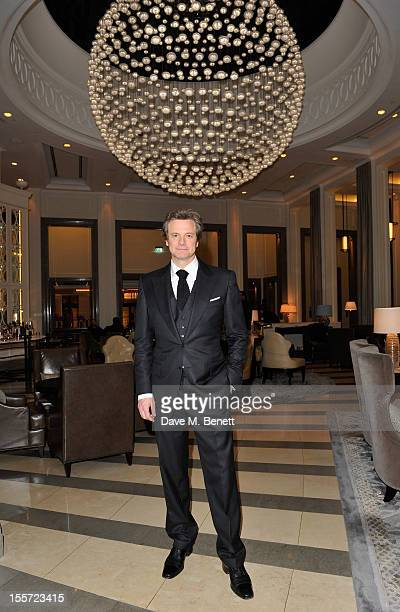 Colin Firth attends an after party following the World Premiere of 'Gambit' at Massimo Restaurant & Oyster Bar in the Corinthia Hotel London on...