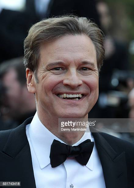 Colin Firth attends the 'Loving' premiere during the 69th annual Cannes Film Festival at the Palais des Festivals on May 16 2016 in Cannes