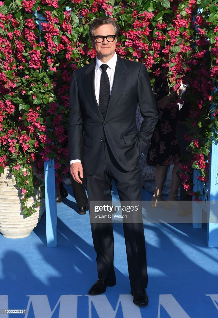 Colin Firth attends the 'Mamma Mia! Here We Go Again' world premiere at the Eventim Apollo, Hammersmith on July 16, 2018 in London, England.