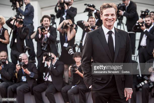 Colin Firth attends the premiere of Nocturnal Animals during the 73rd Venice Film Festival on September 2, 2016 in Venice, Italy.