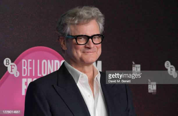 """Colin Firth attends the """"Supernova"""" Premiere during the 64th BFI London Film Festival at BFI Southbank on October 11, 2020 in London, England."""