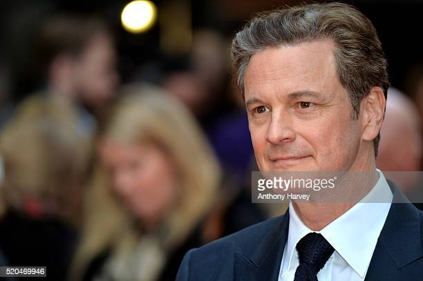 Colin Firth attends the UK premiere of Eye In The Sky on April 11 2016 in London United Kingdom
