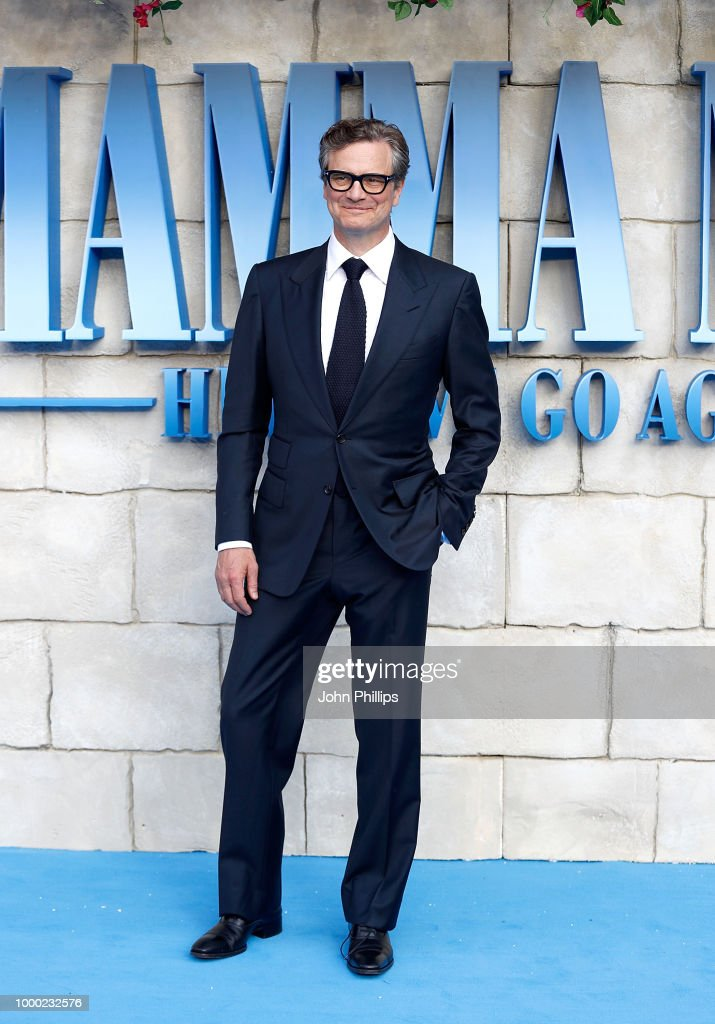 Colin Firth attends the UK Premiere of 'Mamma Mia! Here We Go Again' at Eventim Apollo on July 16, 2018 in London, England.