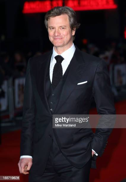 Colin Firth attends the World Premiere of Gambit at Empire Leicester Square on November 7, 2012 in London, England.