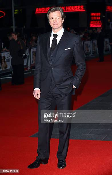 Colin Firth attends the World Premiere of Gambit at Empire Leicester Square on November 7 2012 in London England