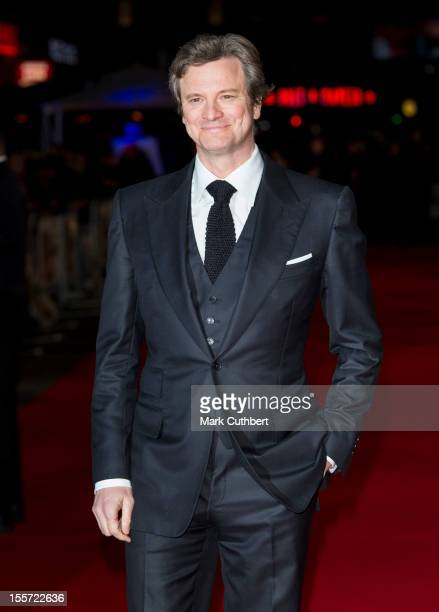 """Colin Firth attends the World Premiere of """"Gambit"""" at Empire Leicester Square on November 7, 2012 in London, England."""