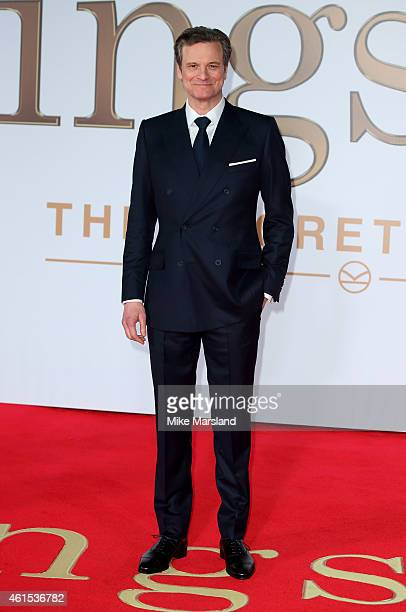 Colin Firth attends the World Premiere of 'Kingsman The Secret Service' at Odeon Leicester Square on January 14 2015 in London England