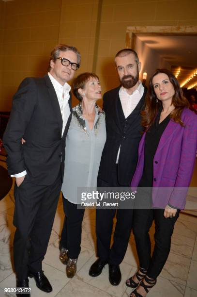 Colin FIrth Celia Imrie Rupert Everett and Livia Firth attend an after party following the UK Premiere of 'The Happy Prince' hosted by Justine...