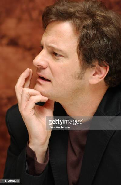 Colin Firth during 'Girl with a Pearl Earring' Press Conference with Scarlett Johansson and Colin Firth at Regent Beverly Wilshire Hotel in Beverly...