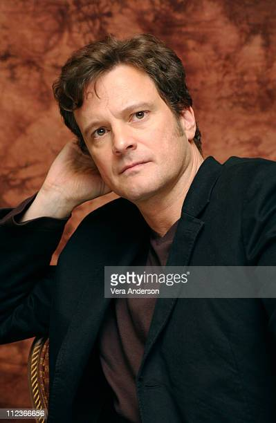Colin Firth during Girl with a Pearl Earring Press Conference with Scarlett Johansson and Colin Firth at Regent Beverly Wilshire Hotel in Beverly...