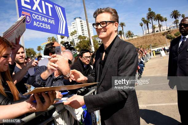Colin Firth during the 2017 Film Independent Spirit Awards at the Santa Monica Pier on February 25 2017 in Santa Monica California