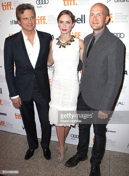 Colin Firth Emily Blunt and director Dante Ariola attending the The 2012 Toronto International Film FestivalRed Carpet Arrivals for 'Arthur Newman'...
