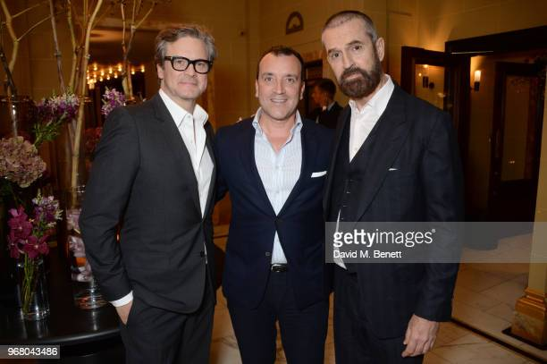 Colin Firth Guillaume Marly and Rupert Everett attend an after party following the UK Premiere of 'The Happy Prince' hosted by Justine Picardie...