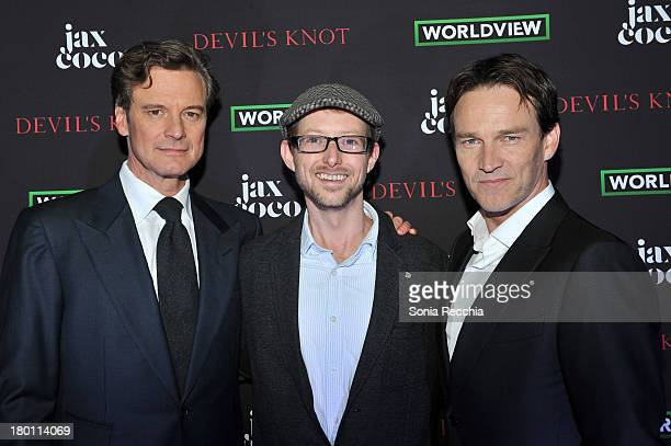Colin Firth Jason Baldwin and Stephen Moyer attend Devil's Knot Cast Dinner Presented By Jax Coco At Hudson Kitchen 2013 Toronto International Film...