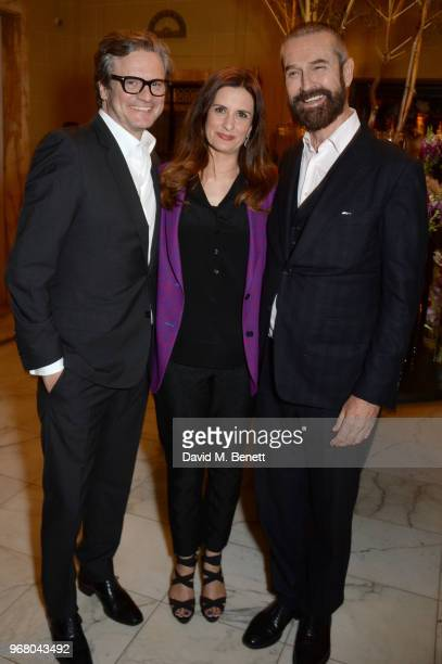 Colin Firth Livia Firth and Rupert Everett attend an after party following the UK Premiere of 'The Happy Prince' hosted by Justine Picardie editor of...
